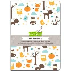 Lawn Fawn Mini Notebook 3.5X5 2/Pkg Into The Woods