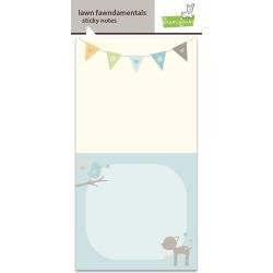 Lawn Fawn Sticky Notes 3X2.875 2/Pkg Into The Woods W/50 Sheets