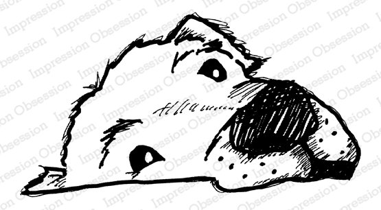 Dog Face Cling Rubber Stamp