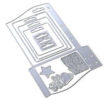 Elizabeth Craft Metal Die-Planner Essentials 30 - Wave Pocket