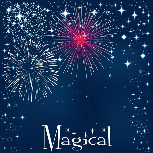 Magical Fireworks Left Paper Single Sided