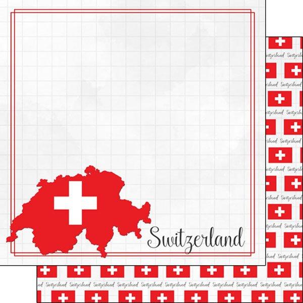Switzerland Adventure Border Paper