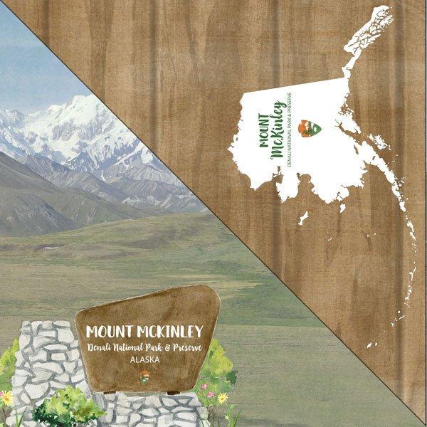 Alaska- Mt. McKinley National Monument Watercolor Paper