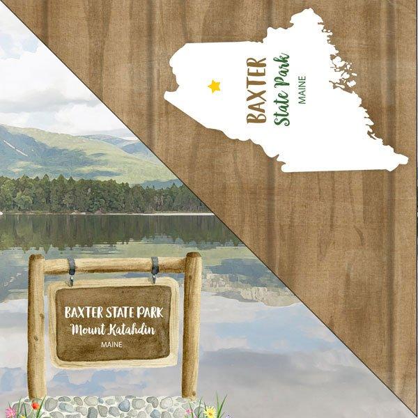 Maine Baxter State Park Paper