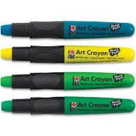 Green Jungle Art Crayon 4PK