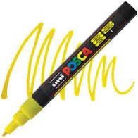 Fine Yellow Glitter Posca Marker