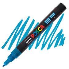 Fine Lt. Blue Glitter Posca Marker
