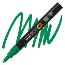 PC-3M Fine Green Uni Posca Paint Marker