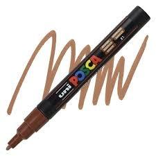 PC-3M Fine Brown Uni Posca Paint Marker