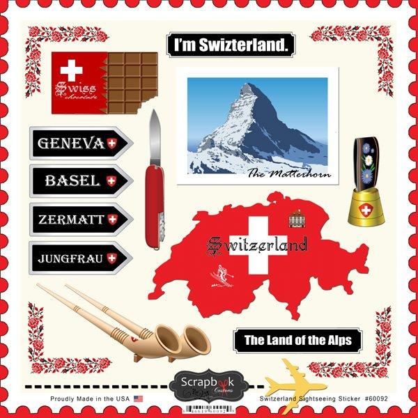 Switzerland Sightseeing Sticker