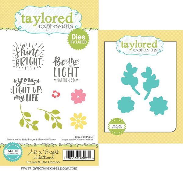 All Is Bright Additions Stamp & Die Combo