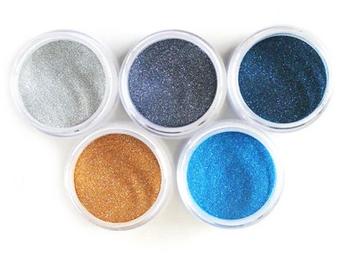 Elizabeth Craft Designs Silk Microfine Glitter Palette 5/Pkg-Beach