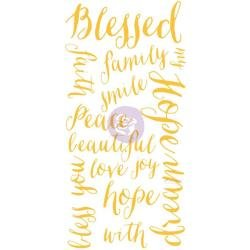 Christine Adolph Adhesive Rub-Ons 5.5X12 Blessed Words