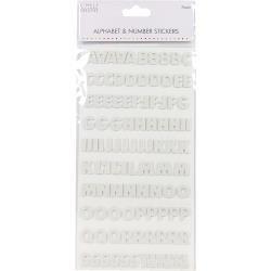 Block Foam Alphabet White