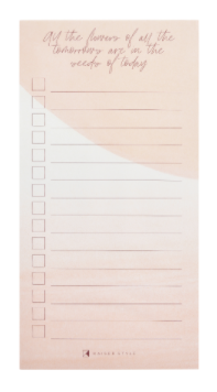 Kaiser Style Magnetic To Do List Pad 4X8 60/Sheets-Blush