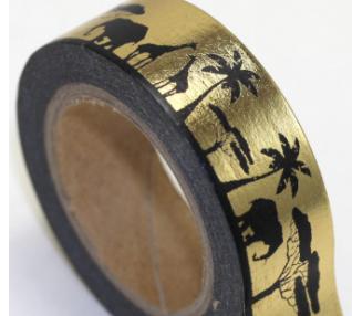Black Gold Safari Washi Tape