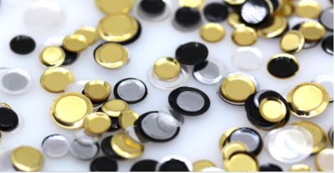 Elegant Saucers Black, Gold & Silver