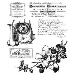 NEW! Tim Holtz Cling Stamps 7X8.5-Dearly Departed