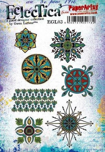 EGL03 Gwen Lafleur Cling Rubber Stamp Set 3