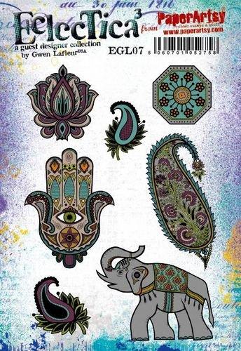 EGL07 Gwen Lafleur Cling Rubber Stamp Set 7