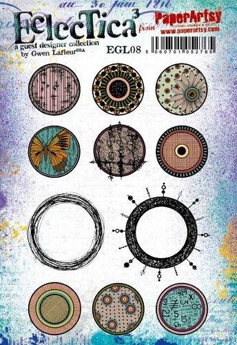 EGL08 Gwen Lafleur Cling Rubber Stamp Set 8