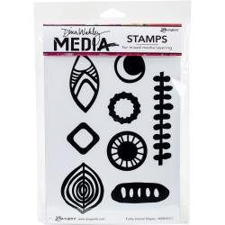 Dina Wakley Media Cling Stamps 6X9 Funky Journal Shapes