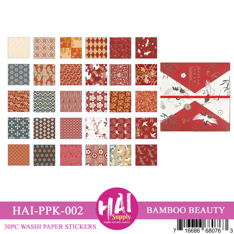 Washi Sticker Sheets Box - Bamboo Beauty