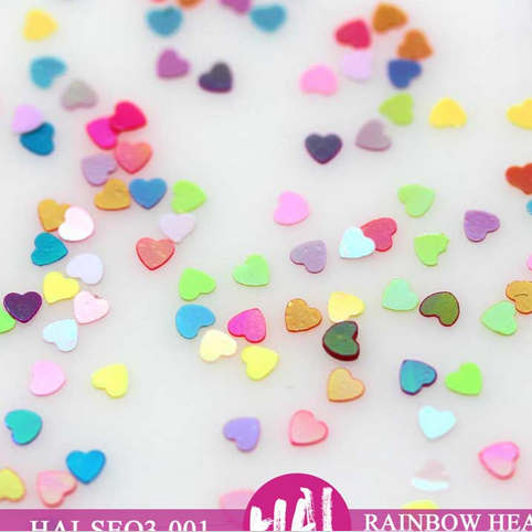 3MM Hearts Sequins