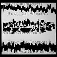 City Scape Stencil