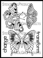 Boho Butterflies 9x12 Stencil by Gwen Lafleur
