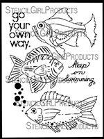 Boho Fish 9x12 Stencil by Gwen Lafleur