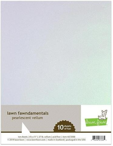 Pearlescent Vellum Pack, 10 sheets 8.5x11