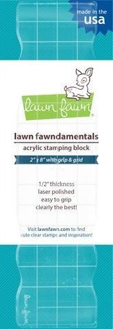 Lawn Fawn Acrylic Stamping Block W/Grid 2X8