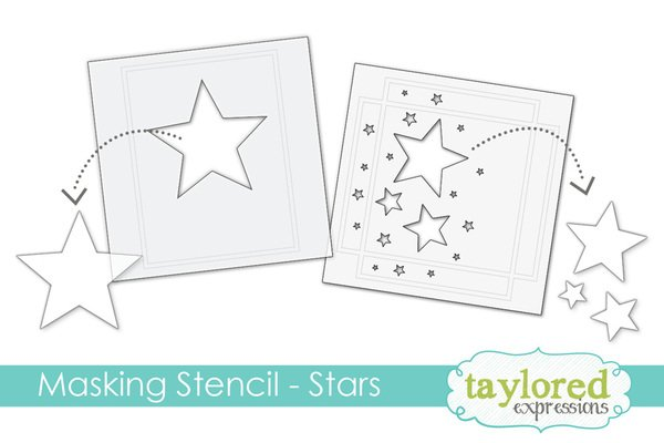 Masking Stars Stencil