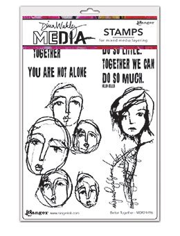 Dina Wakley Media Cling Stamps 6X9- Better Together