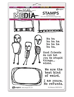 Dina Wakley Media Cling Stamps 6X9 No Refunds