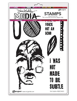 Dina Wakley Media Cling Stamps 6X9 Not Subtle