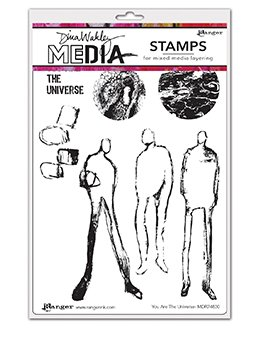 Dina Wakley Media Cling Stamps 6X9 You Are The Universe