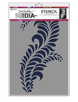 Dina Wakley Media Stencils Giant Flourish