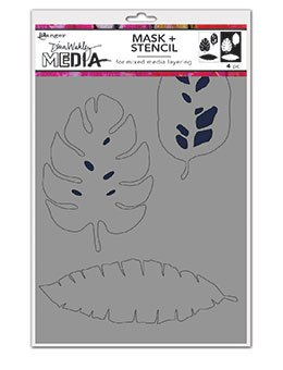 Dina Wakley Media Stencils Tropical Masks