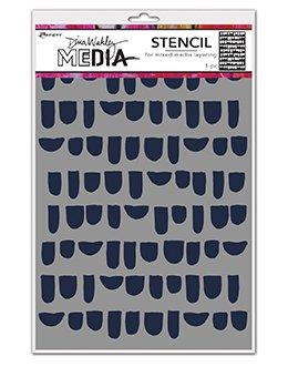 Dina Wakley Media Stencils 9X6 Bumps