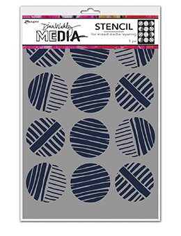 Dina Wakley Media Stencils 9X6 Lined Circles
