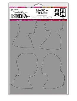 Dina Wakley Media Stencils + Masks 6X9 Profiles