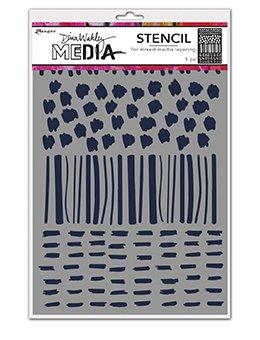 Dina Wakley Media Stencils 9X6 Marks
