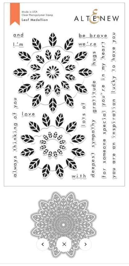 Bundle Leaf Medallion Stamp & Die