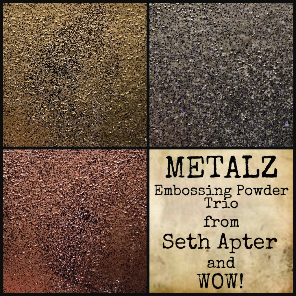 Trio Embossing Powder 3 Pack-Metalz inspired by Seth Apter
