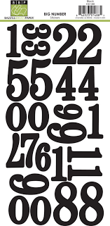 Large Black Number Stickers