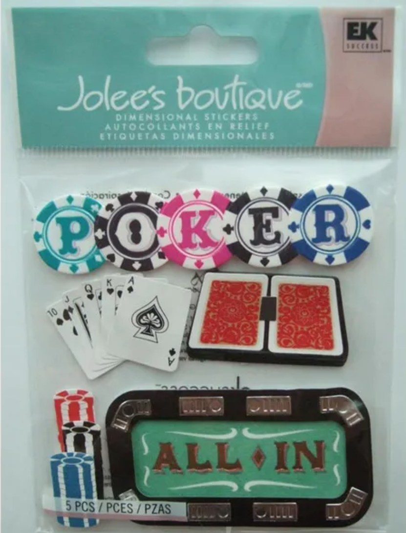 Jolee's Boutique Dimensional Stickers - Poker