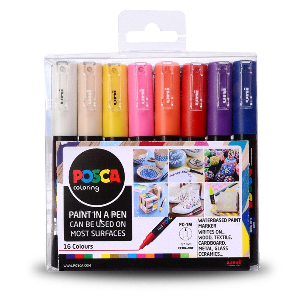 Posca PC-1M Paint Markers Set 16PK  0.7mm