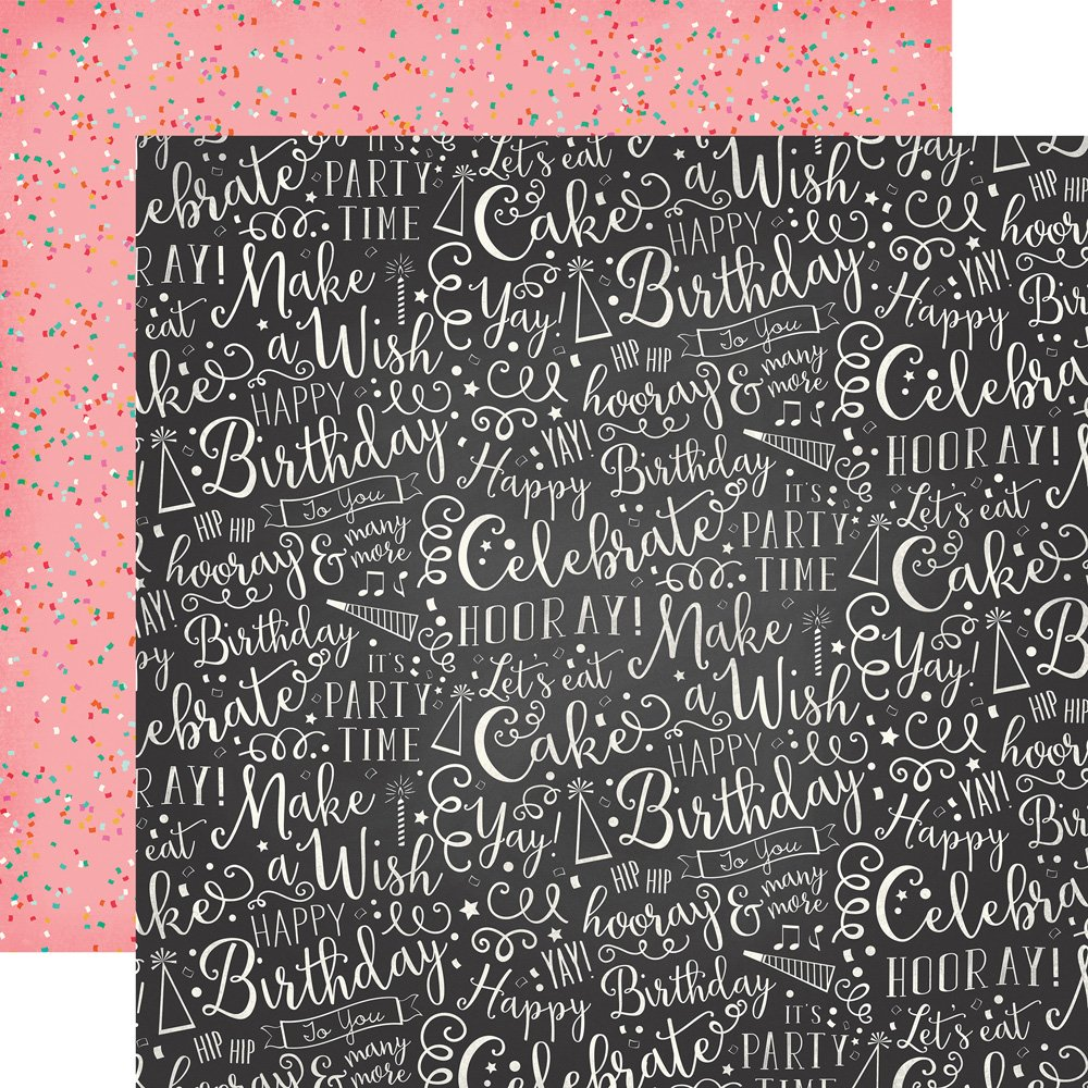 Party Time Double-Sided Cardstock 12X12-Hooray